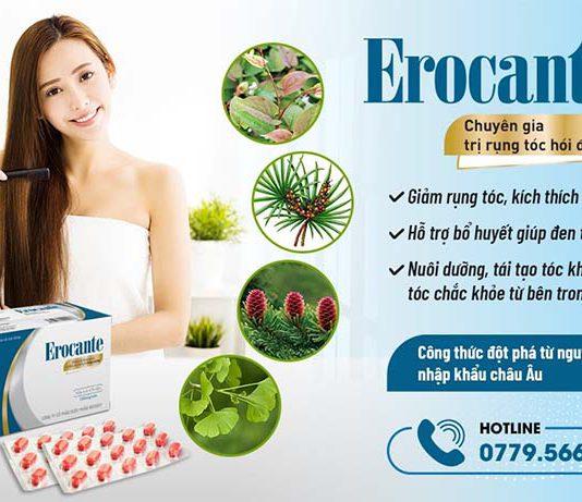 Viên uống Erocante giúp tóc chắc khỏe, mềm mượt